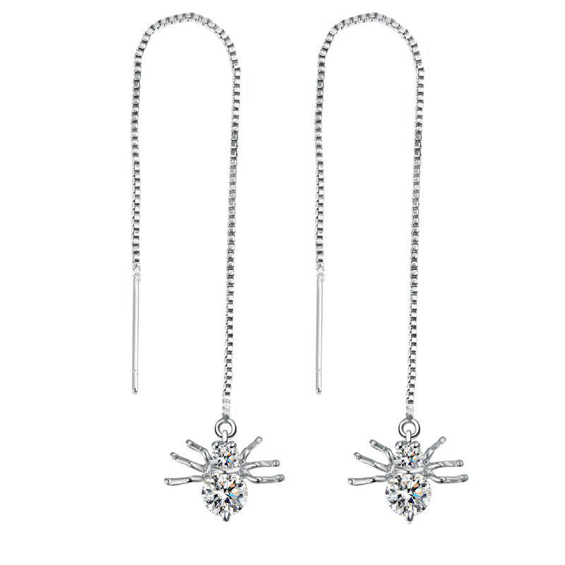 Fancy Popular Fashion Long Style Small Animal Spider Pendant Earrings