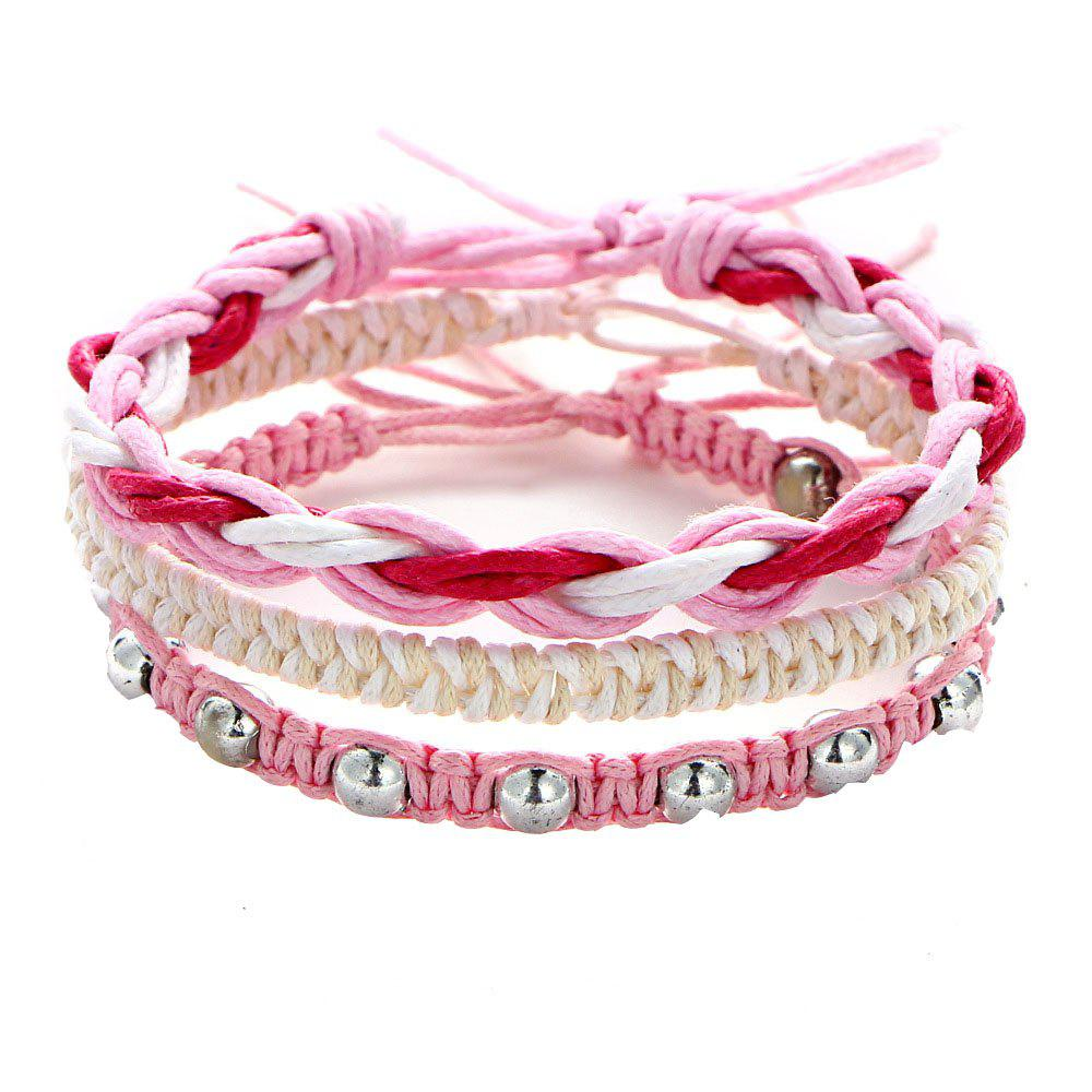 Outfits New Style Handwoven Rope Women Charm Multi-Layer Beaded Bracelet