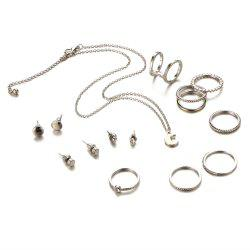 New Style Necklace Simple Ear Nail Fashion Ring Suit -