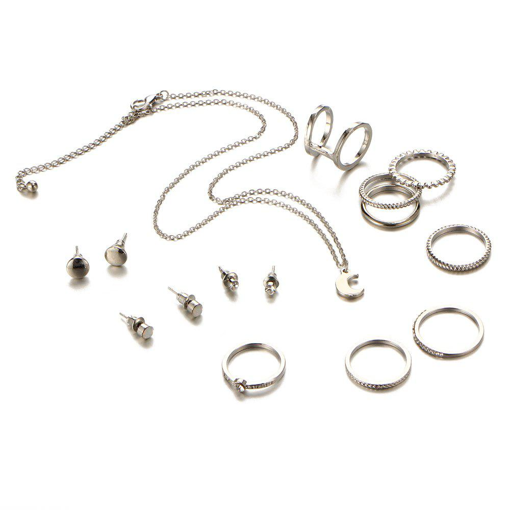 Store New Style Necklace Simple Ear Nail Fashion Ring Suit
