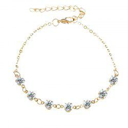 Fashionable Simple Lady Crystal Anklet -