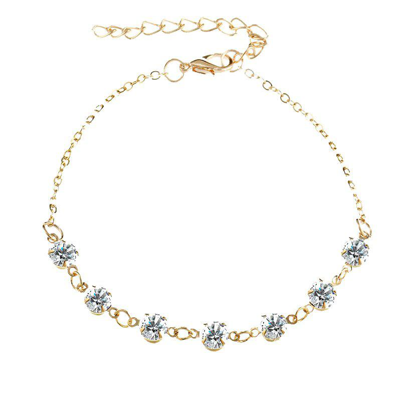 New Fashionable Simple Lady Crystal Anklet