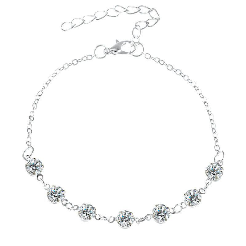 Trendy Fashionable Simple Lady Crystal Anklet