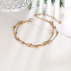 Fashionable and Simple Double Beaded Beach Anklet -