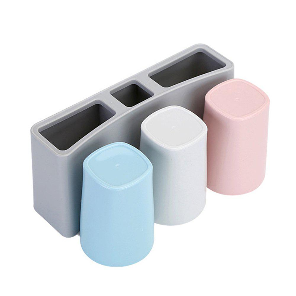 Unique Wall Hanging Creative Sucker Rinse Cup Toothpaste Toothpick Box Rack