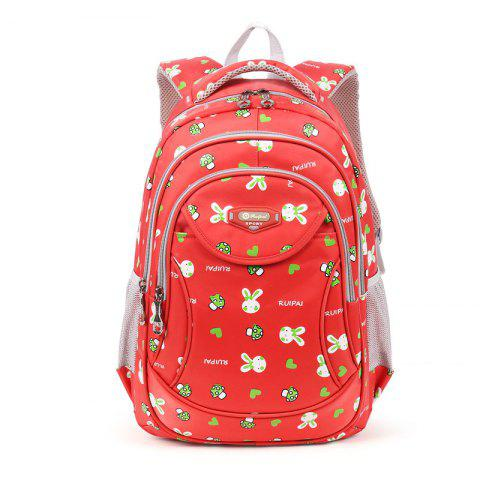 Fashion Ruipai 17170 Korean Style Cartoon Rabbit Print Kids' School Bag Student Backpack
