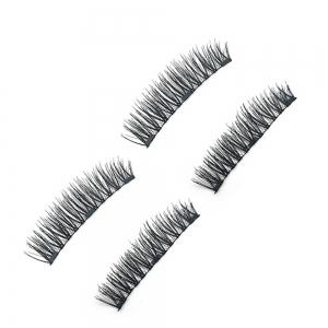 Chemical Fiber Magnetic Handmade Double Three Long Eyelashes -