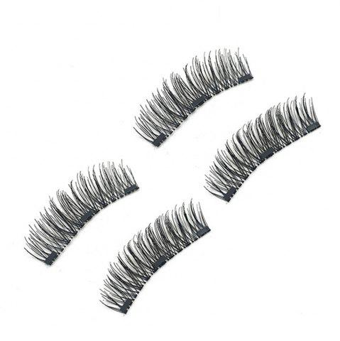 Unique Chemical Fiber Magnetic Handmade Double Three Long Eyelashes
