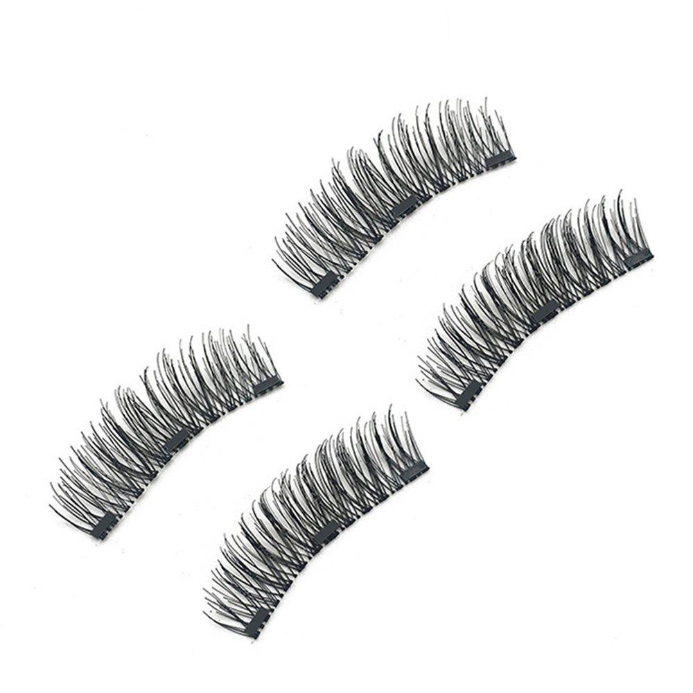 Shop Chemical Fiber Magnetic Handmade Double Three Long Eyelashes