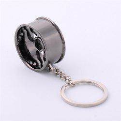 Creative Wheel Hub Metal Car Key Buckle Car Pendant -