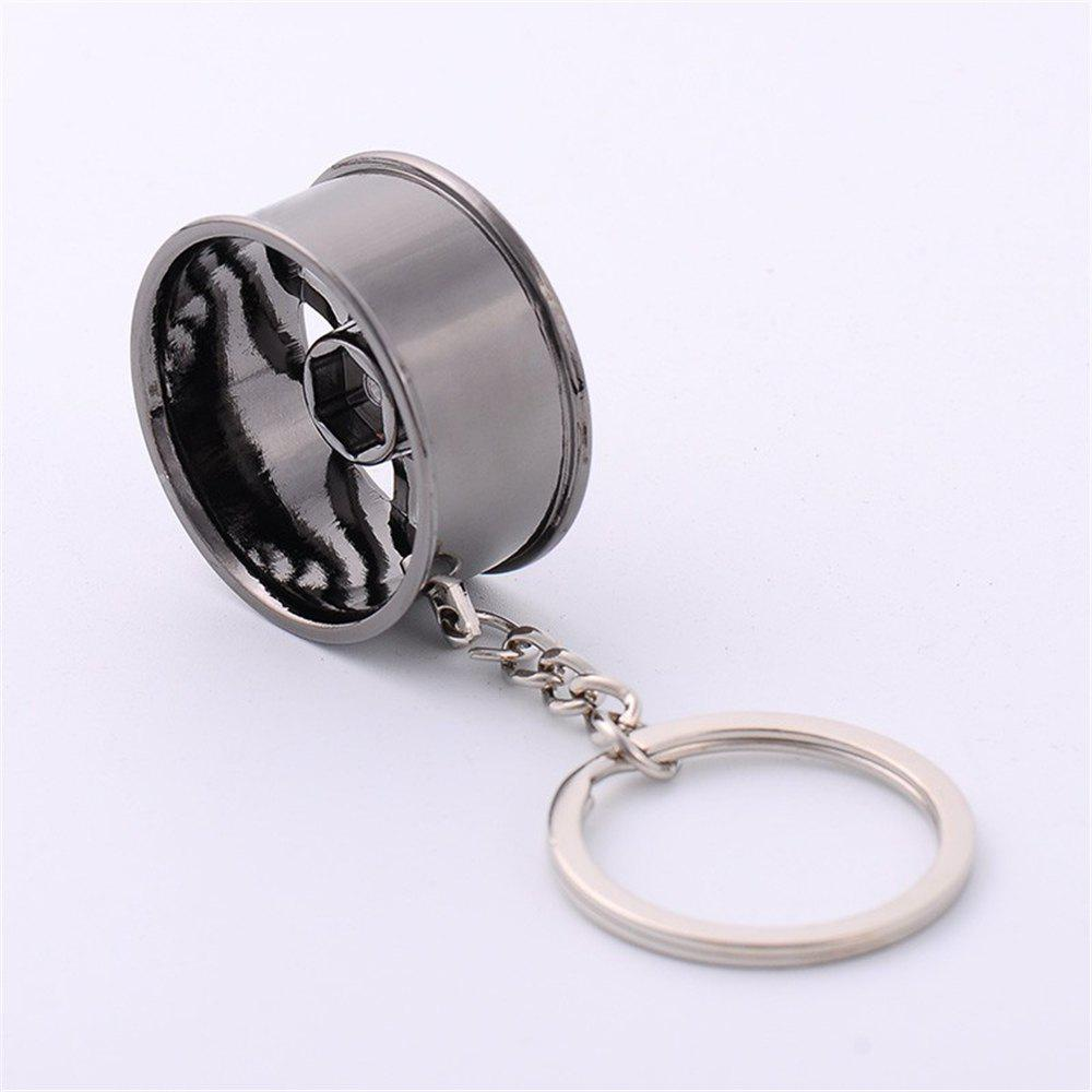 Online Creative Wheel Hub Metal Car Key Buckle Car Pendant