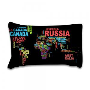 2018 New Pattern Words World Map Printing Cotton Bedding Set 3PCS Duvet CoverSet -