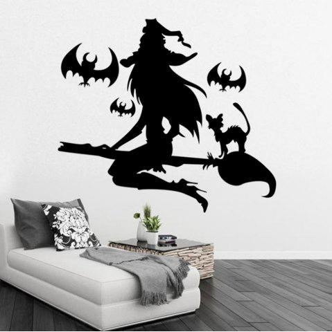 Chic Black Wall Sticker Witch Halloween