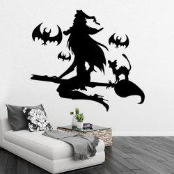 Black Wall Sticker Witch Halloween -