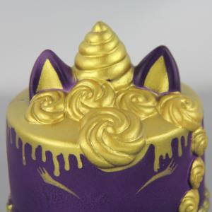 Jumbo Squishy Golden Unicorn Cake Toys -