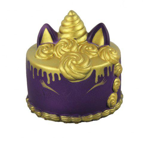 Online Jumbo Squishy Golden Unicorn Cake Toys