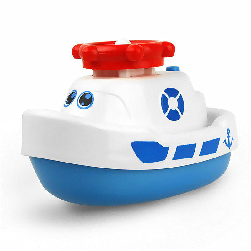 White Creative Fun Small Electric Ship Water Spray Baby Bath Toy ...