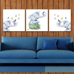DYC11109 - bc-10-71-72-73 3PCS Cute Cartoon Little Elephant Print Art -