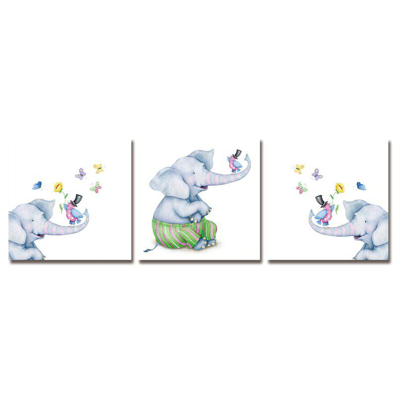 DYC11109 - bc-10-71-72-73 3PCS Cute Cartoon Little Elephant Print Art Многоцветный