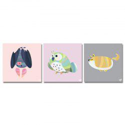DYC11111 - bc-10-7-13-15 3PCS Cute Cartoon Animals Print Art -