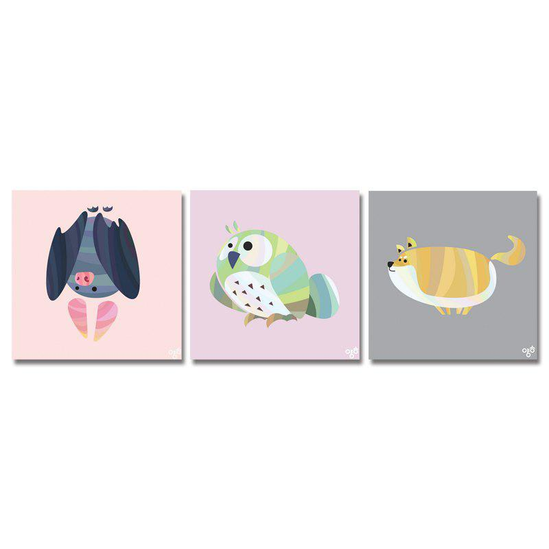 Outfit DYC11111 - bc-10-7-13-15 3PCS Cute Cartoon Animals Print Art