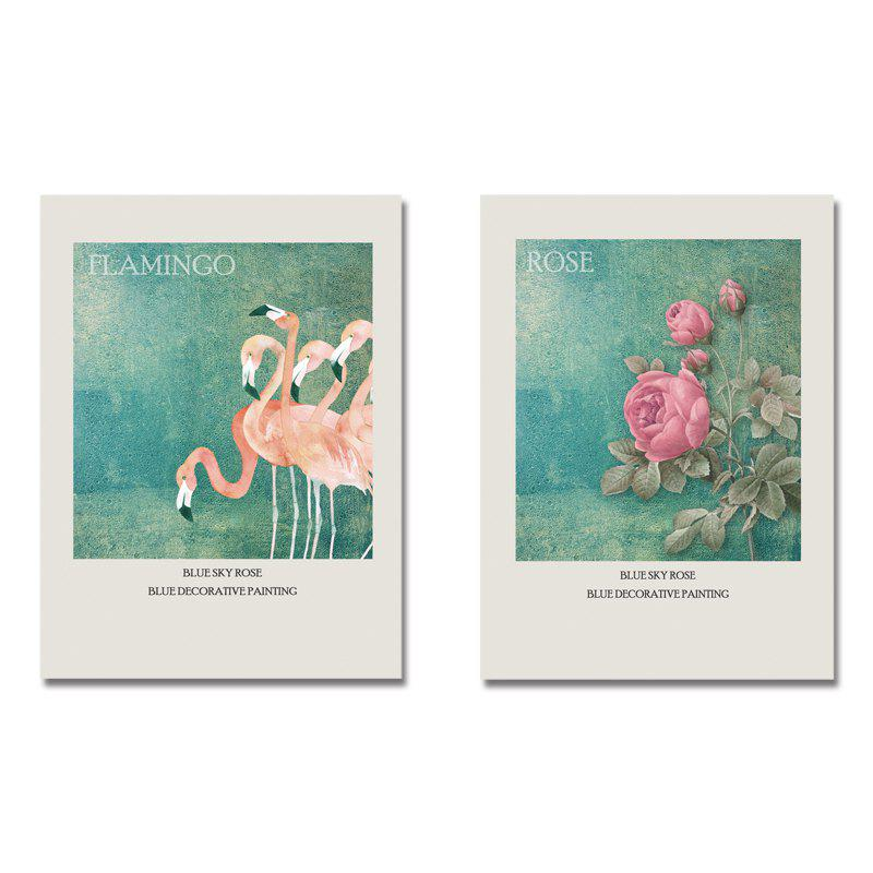 DYC11118 - bc-10-309-310 2PCS Romantic Flamingo Print Art