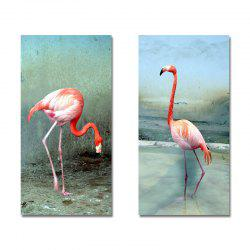 DYC11205 - bc-9-243-244 2PCS Photographie Flamant Print Art -