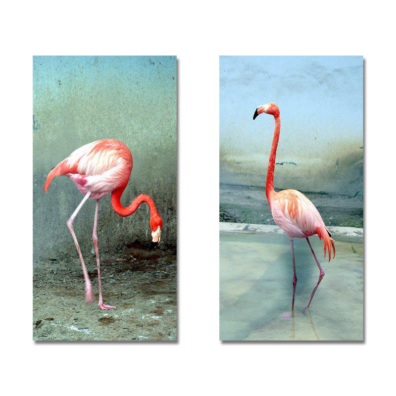DYC11205 - bc-9-243-244 2PCS Photographie Flamant Print Art