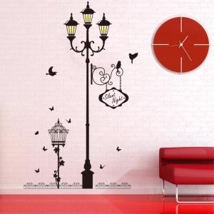 Creative Decorative Cartoon 3D Light Story Wall Stickers -