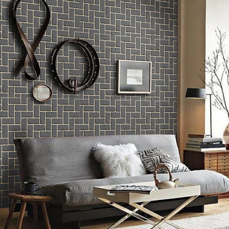Shops 10M Long 3D PVC Thick Self-Adhesive Living Room Bedroom Bar Creative Wallpaper