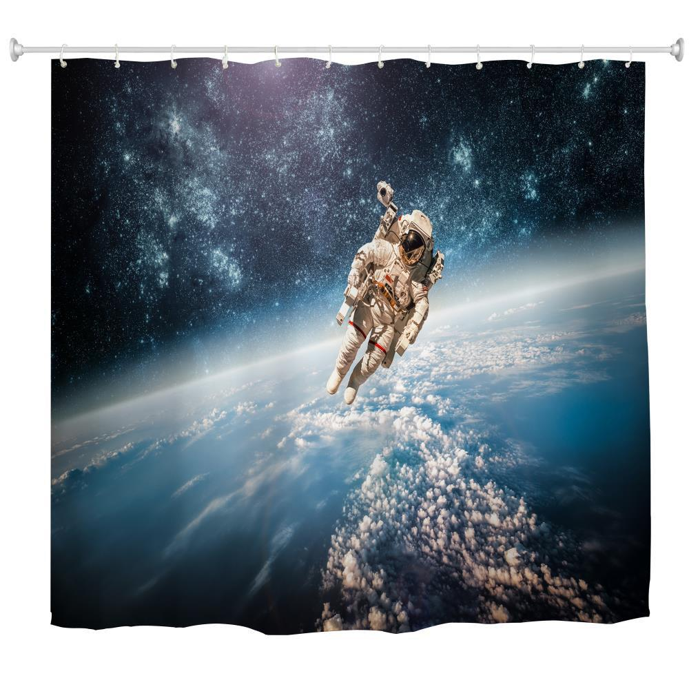 Discount Walking Clouds Water-Proof Polyester 3D Printing Bathroom Shower Curtain