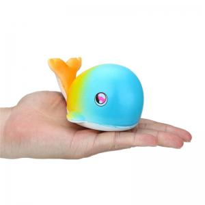 Jumbo Squishy Fluorescent Whales Charm Slow Rising Toy -