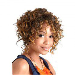 Golden Blonde Short Curly Best Chic Style Synthetic Hair Wig for American Women -