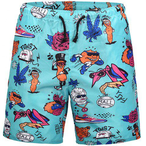 Store Men's Summer 3D Casual Beach Quick Drying Swim Shorts
