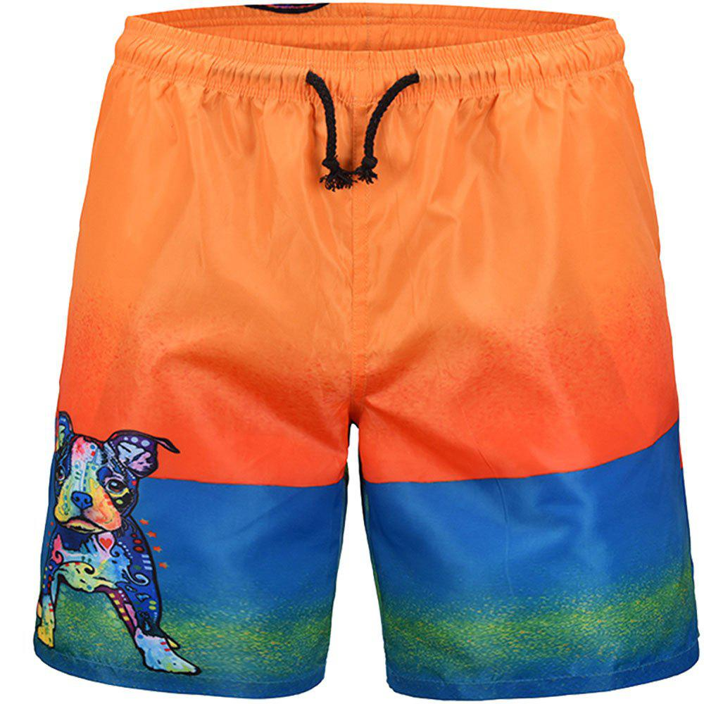 Hot Men's Summer 3D Casual Beach Quick Drying Swim Shorts