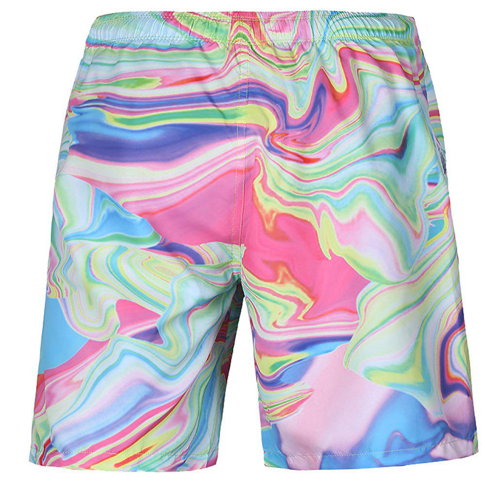 Buy Men's Summer 3D Casual Beach Quick Drying Swim Shorts