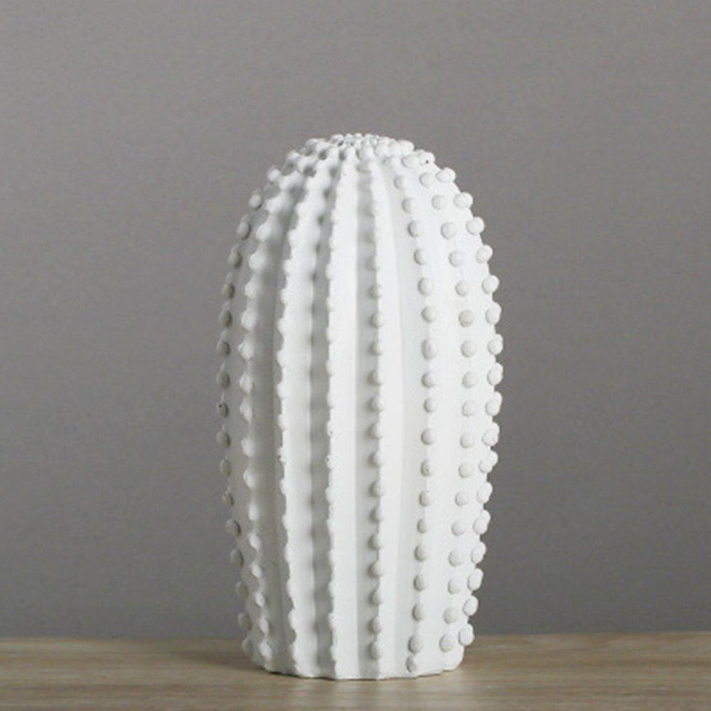 Nordic Home Simple décoration de vent Or blanc Cactus Ornement 1pcs
