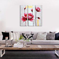 3PCS Frame Contemporary Sitting Room Hedroom Wall Fower Plant Decoration Print -