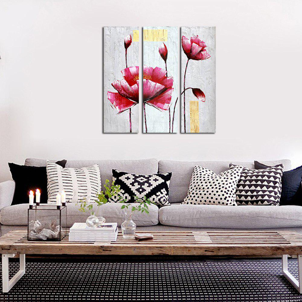 Shop 3PCS Frame Contemporary Sitting Room Hedroom Wall Fower Plant Decoration Print