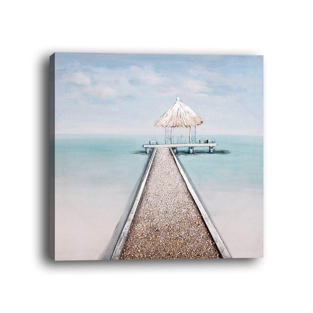 Store Framed Canvas Modern Room Bedroom Background Wall Small Fresh Seaside Print