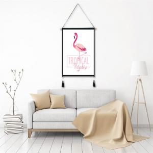 Letter Flamingo Tassel Hanging Painting Wall Decor Print -