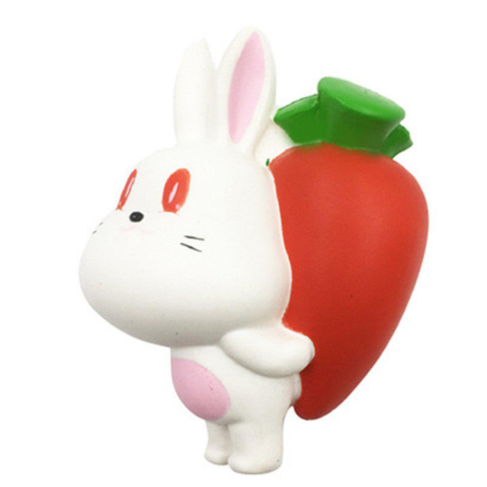 Jumbo Squishy Slow Rebond Jouet Rabbit Back Radish