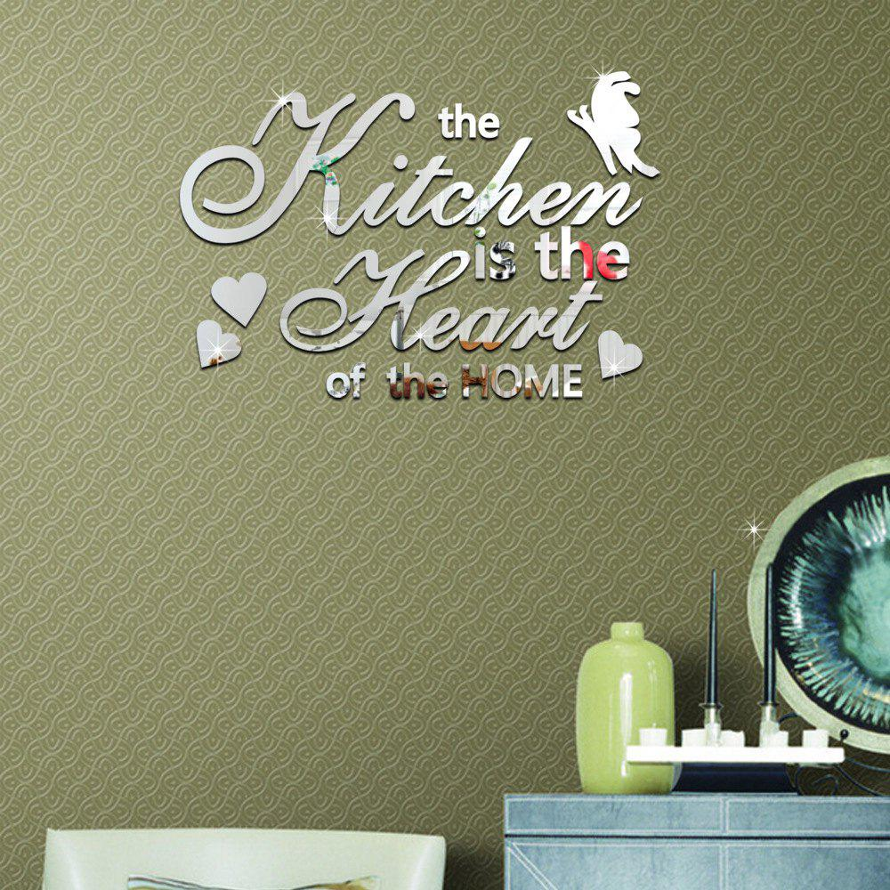 Online English Letter DIY Adornment Mirror Wall Sticker