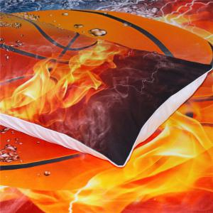 Basketball Quilt Cover Bedding Explosion 3D Printing Three-Piece -