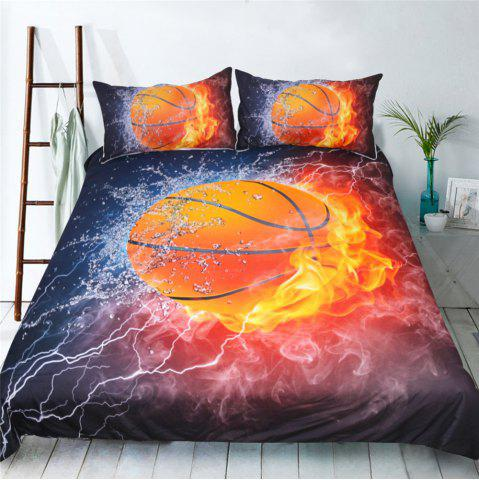 Sale Basketball Quilt Cover Bedding Explosion 3D Printing Three-Piece