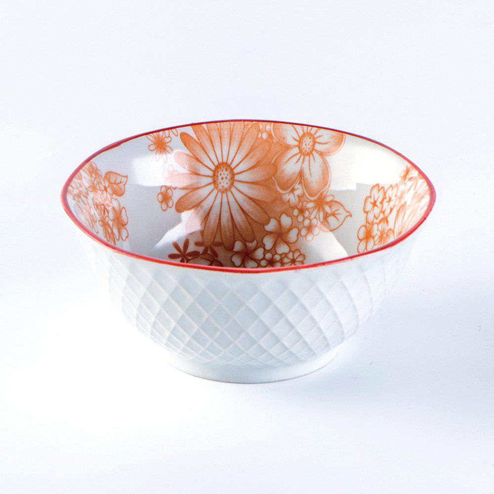 Affordable 1 Piece Simple Style Ceramic Household Rice Bowl