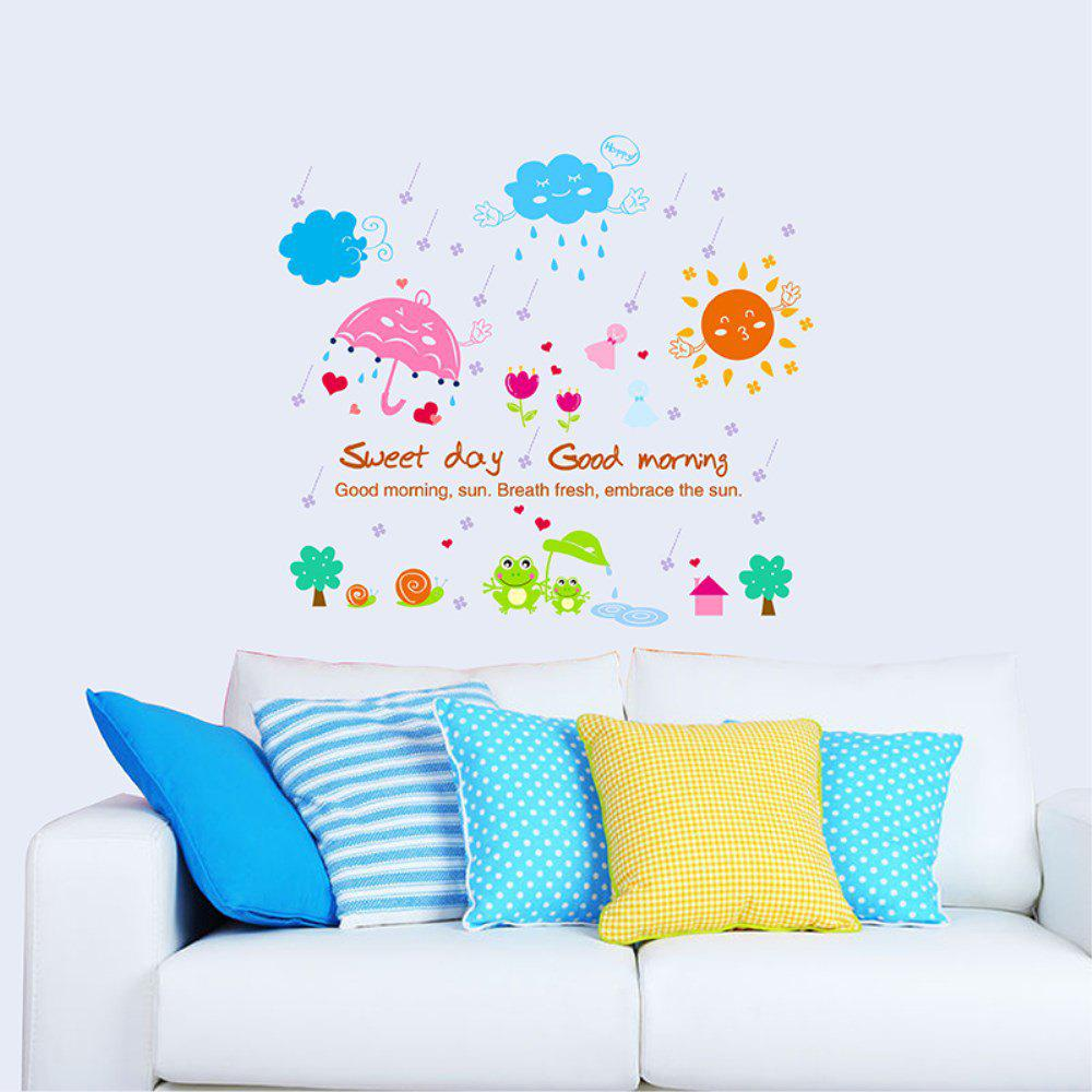 Online 3D Cartoon Creative Decorative Wall Stickers Sunshine after the Rain