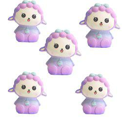 Simulation Slow Rebound Series of Lovely Elastic Lamb Toys 5PCS -