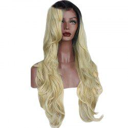 T Colou Front Lace Chemical Fiber Wig Gold Head Cover -