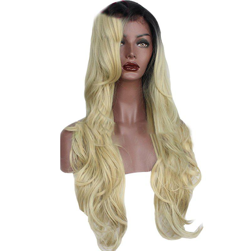 Online T Colou Front Lace Chemical Fiber Wig Gold Head Cover